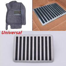 """9"""" x 6"""" Stainless + Rubber Car Floor Carpet Mat Patch Foot Heel Plate Pedal Pad"""