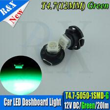 2x Green T4.7 LED SMD Car Light Bulb Rear interior light For 99-04 VW GOLF MK4