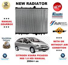 FOR CITROEN XSARA PICASSO N68 MANUAL 1.6 HDi 2004> NEW RADIATOR ** OE QUALITY **