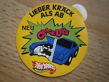 Aufkleber Sticker Mattel - Hot Wheels - Crack UPS gelb ca. 1992