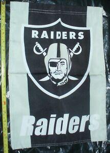 "rare NFL Oakland Raiders football double sided yard garden flag 12.5"" x 18"" new"