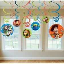 Toy Story Party Supplies Foil Swirl Decorations 12ct