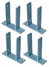 4x Et Post-Responsables pour Poteaux de Clôture 9x9 CM Dévisser Galvanisé Ancre