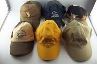 LOT of 6 Vintage Ball Caps Hats, Ducks Unlimited Shooting Hunting Mallard