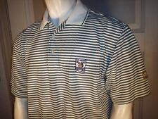 Ashworth Large White Striped Cotton Golf Shirt Oakmont 2007 Us Open Usga