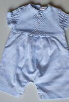 Baby Boys Pale Blue Sarah Louise, Romper, Age 0-3 Months, VGC