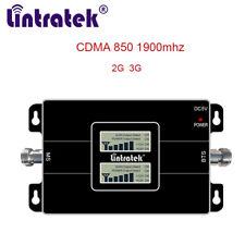 CDMA 850 1900 mhz Cellphone Signal Booster LCD Display 2G 3G Amplifier Cellular