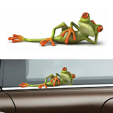 3D FUNNY GREEN LYING FROG FOR CAR BODY WINDSHIELD VINYL DECAL GRAPHIC STICKER