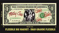 MÖTLEY CRÜE MOTLEY CRUE GIRLS GIRLS GIRLS IMAN BILLETE 1 DOLLAR BILL MAGNET