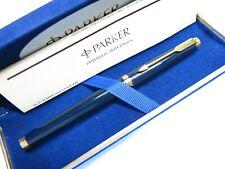 RARE Parker 75 Midnight Blue Color Fountain Pen w/Original Velvet Box