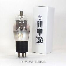 Nos Rca Cunningham Radiotron Usa Type 24A Mesh Plate Engraved Vacuum Tube