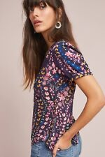 Anthropologie Eldoret Wrap Top Floral Blouse Size 12