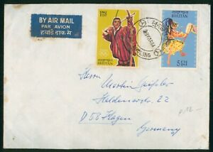 Mayfairstamps Bhutan 1966 to Germany Airmail Cover wwo90487