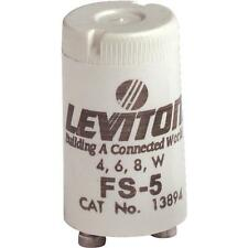 100 Pk Leviton 4W 6W 8W 2-Pin T8 FS-5 Fluorescent Light Starter 002-13894-000