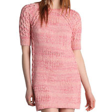 See By Chloe Marl Pink Cotton Knit Jumper/Sweater Dress - UK 8 / IT 40