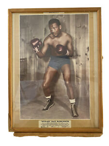 Vintage Boxing Picture Sugar Ray Robinson  Framed World Welterweight Champion