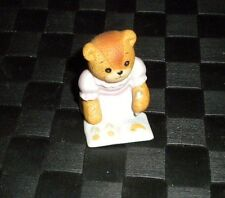 Lucy & Me Enesco Girl With Coloring Book 1986 Porcelain Bear Figurine