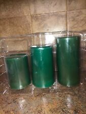 SET OF 3 PINE SCENTED PILLAR CANDLES