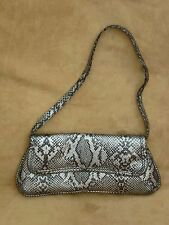 Black and Silver ColouredMock Snakeskin Handbag -  Excellent Condition