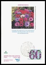 NIEDERLANDE MK 1982 FLORA ANEMONEN MAXIMUMKARTE CARTE MAXIMUM CARD MC CM bv96