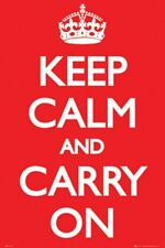 INSPIRATIONAL POSTER Keep Calm and Carry On 24x36