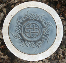 "Gothic Pagan Wicca Celtic stepping stone mold plaster concrete mould 10"" x 1.5"""