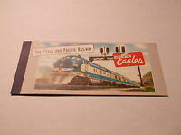 1950's TEXAS AND PACIFIC RAILWAY ROUTE OF THE EAGLES UNUSED TICKET BOOK