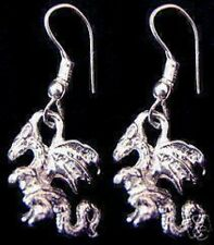 Medieval Times Sterling Silver Celtic Dragon Earrings