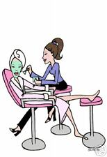 Esthetician Salon cards diva beauty facial