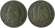 NAPOLEON  III  ,  2  CENTIMES  TÊTE  NUE ,  1855  GRAND  D  LYON  ,  ANCRE