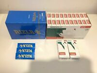 600 RIZLA BLUE CIGARETTE ROLLING PAPERS 600 SWAN MENTHOL EXTRA SLIM FILTER TIPS