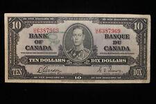 1937 Canada. ($10) Ten Dollars. Series U/D. Gordon-Towers.