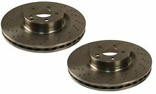 NEW Mercedes Benz W216 W221 CL550 S400 Set of 2 Front Disc Brake Rotors Pilenga