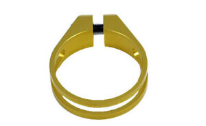 OMNI Racer WORLDS LIGHTEST RACE-Lite Seatpost Clamp: JUST 10 grams!! 28.6mm GOLD
