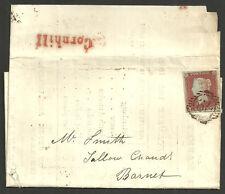 1841 1d Rosso Qi London 79 DISTRETTO numerale cornhill 1852 Lettera del mercato/report