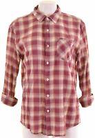 SCOTCH & SODA Womens Shirt 3/4 Sleeve Size 18 XL Burgundy Check Cotton  FP07