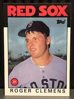 1986 Topps Roger Clemens baseball card Boston Red Sox Nrmt-Mint #661 MLB Texas