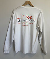 Vineyard Vines Mens Small Long Sleeve Shirt White Pocket Syracuse