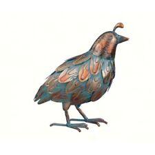 Copper Patina Quail Head Up Metal Bird Home Decor Garden Sculpture Yard Statue