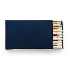 50 Plain Matchboxes with Matches in Navy Wooden Matches