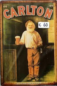 Carlton Draught Metal Tin Signs Bar Shed & Man Cave Sign AU Seller