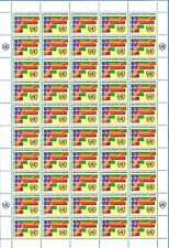 Mint Never Hinged United Nations Full Stamps Sheet.
