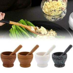 Herbs Grinder Stone Mortar Bowl Pestle Spice Crusher Mixing Grinding X7G0