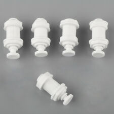"""5pcs Plastic White 1/4"""" Bulkhead Connector Tube Quick Fittings for RO Water New"""