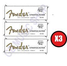 3 DECAL FENDER STRATOCASTER 54-60 AD ACQUA ADESIVO
