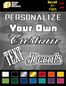 Custom Text Vinyl Lettering Personalized Window Decal Sticker Car Truck Business
