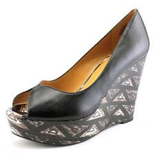 Women's 100% Leather Wedge High (3-4.5 in.) Heels