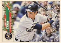 2020 Topps Holiday Christian Yelich Ornament RARE Short Print SP Variation