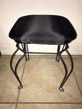 Black Bedroom Vanity Stool Seat Chair Bathroom Dressing Makeup EUC