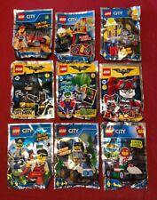 Lego City & Batman mix Coll mini polybag packs × 9